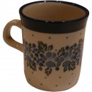 Small mug flax flower pattern
