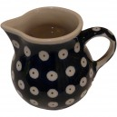 Creamer jug blue eyes pattern